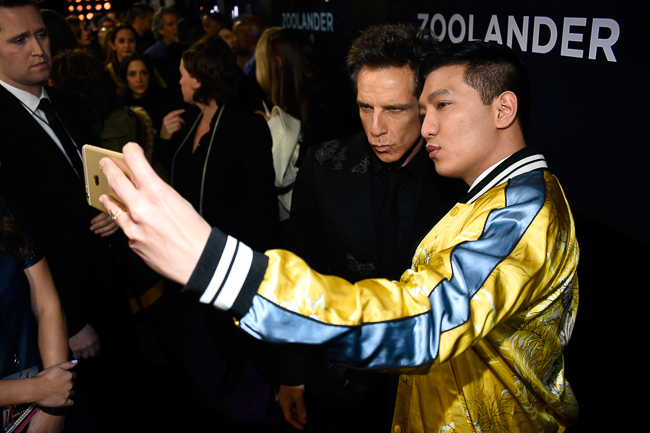 "NEW YORK, NY - FEBRUARY 09: Actor Ben Stiller (L) poses with Bryanboy at the ""Zoolander No. 2"" World Premiere at Alice Tully Hall on February 9, 2016 in New York City.  (Photo by Frazer Harrison/Getty Images for Paramount) *** Local Caption *** Bryanboy;Ben Stiller"